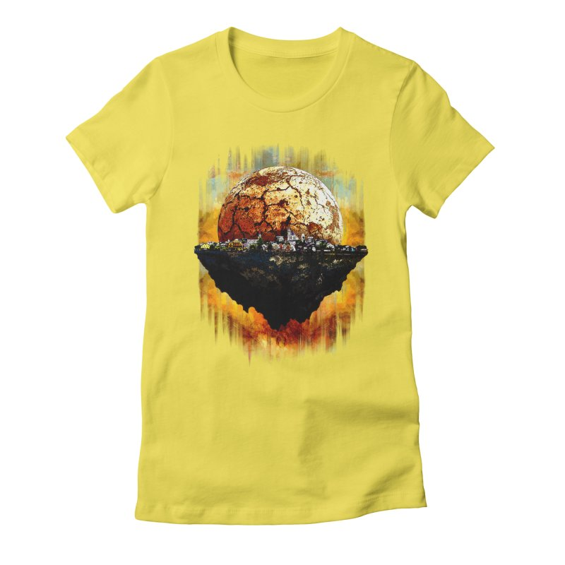 Mars Sunrise Women's Fitted T-Shirt by