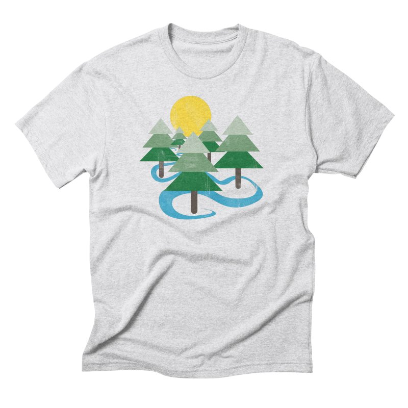 Minimalist Forest Men's Triblend T-shirt by
