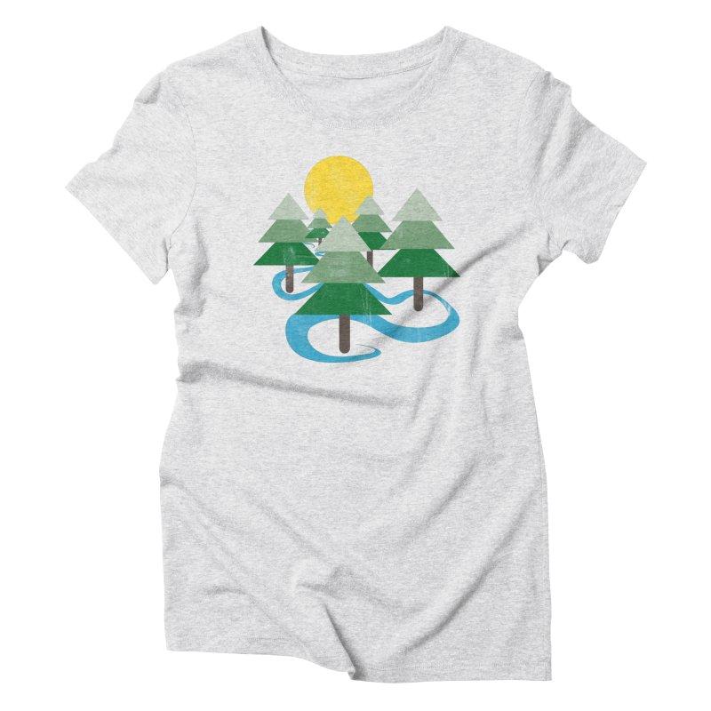 Minimalist Forest Women's Triblend T-shirt by