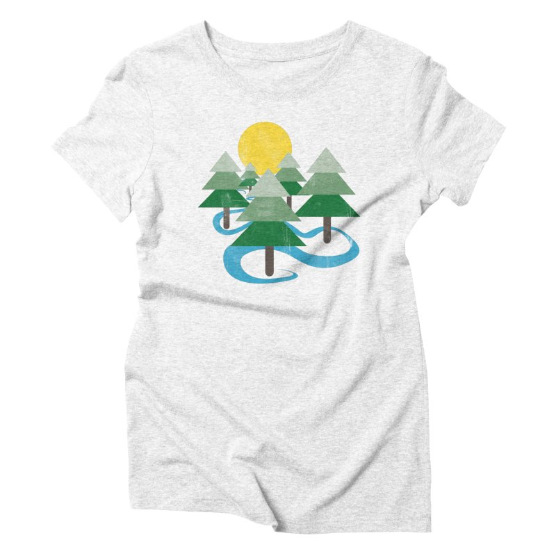 Minimalist Forest Women's Triblend T-shirt by