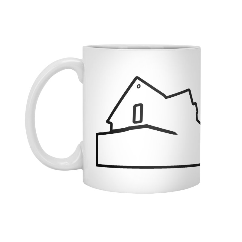 American Football - House Silhouette (black) Accessories Standard Mug by Polyvinyl Threadless Shop