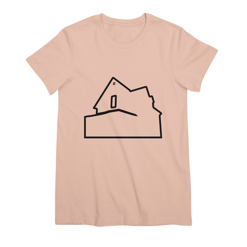 American Football - House Silhouette (black) Women's Premium T-Shirt by Polyvinyl Threadless Shop