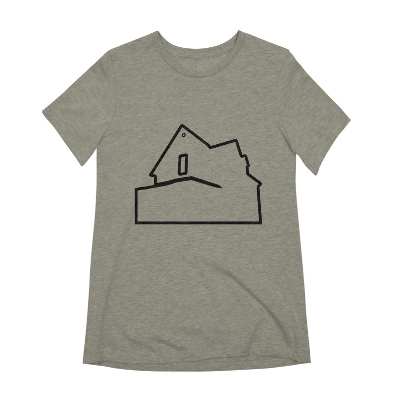 American Football - House Silhouette (black) Women's Extra Soft T-Shirt by Polyvinyl Threadless Shop