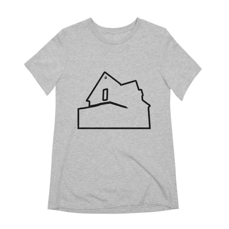 American Football - House Silhouette (black) Women's Extra Soft T-Shirt by Polyvinyl Threadless Shop