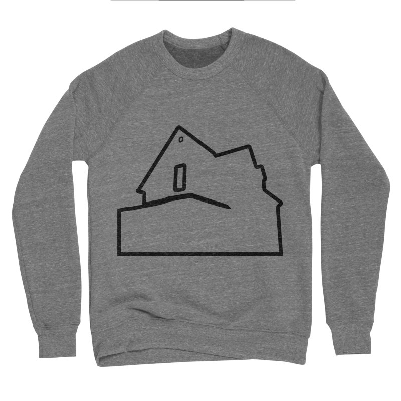 American Football - House Silhouette (black) Women's Sponge Fleece Sweatshirt by Polyvinyl Threadless Shop