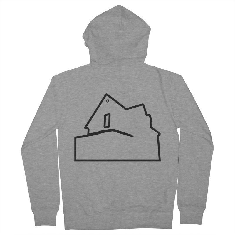 American Football - House Silhouette (black) Men's French Terry Zip-Up Hoody by Polyvinyl Threadless Shop
