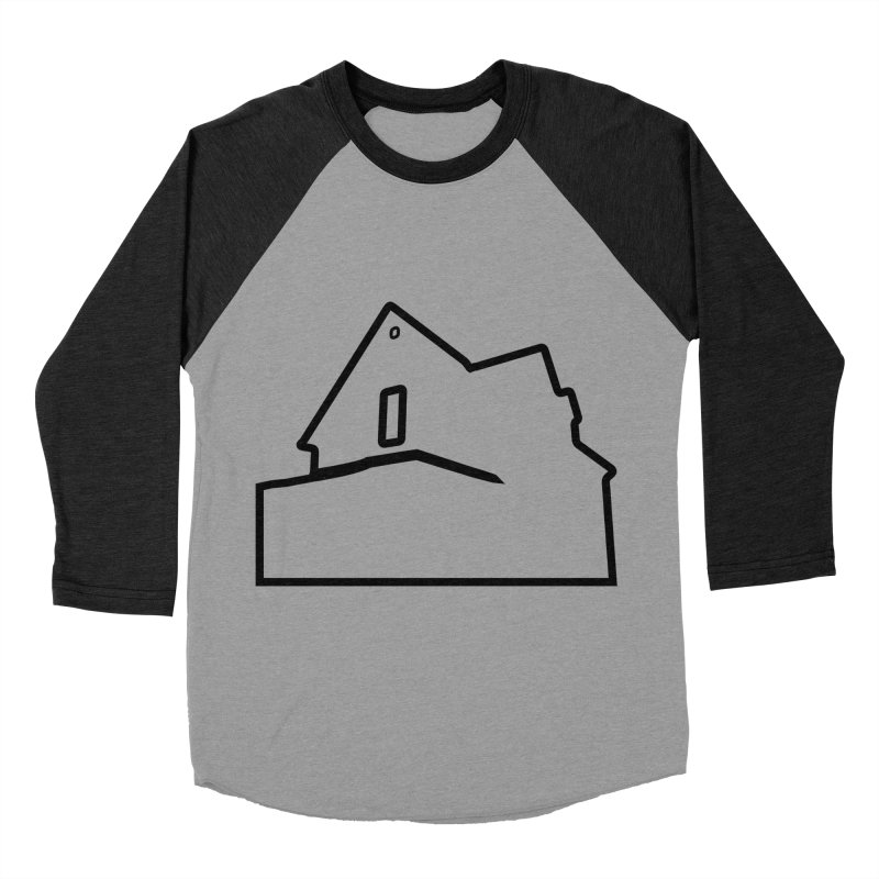 American Football - House Silhouette (black) Women's Baseball Triblend Longsleeve T-Shirt by Polyvinyl Threadless Shop