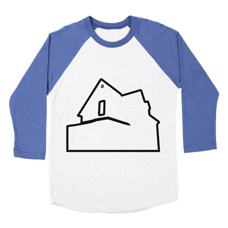 American Football - House Silhouette (black) Men's Baseball Triblend Longsleeve T-Shirt by Polyvinyl Threadless Shop