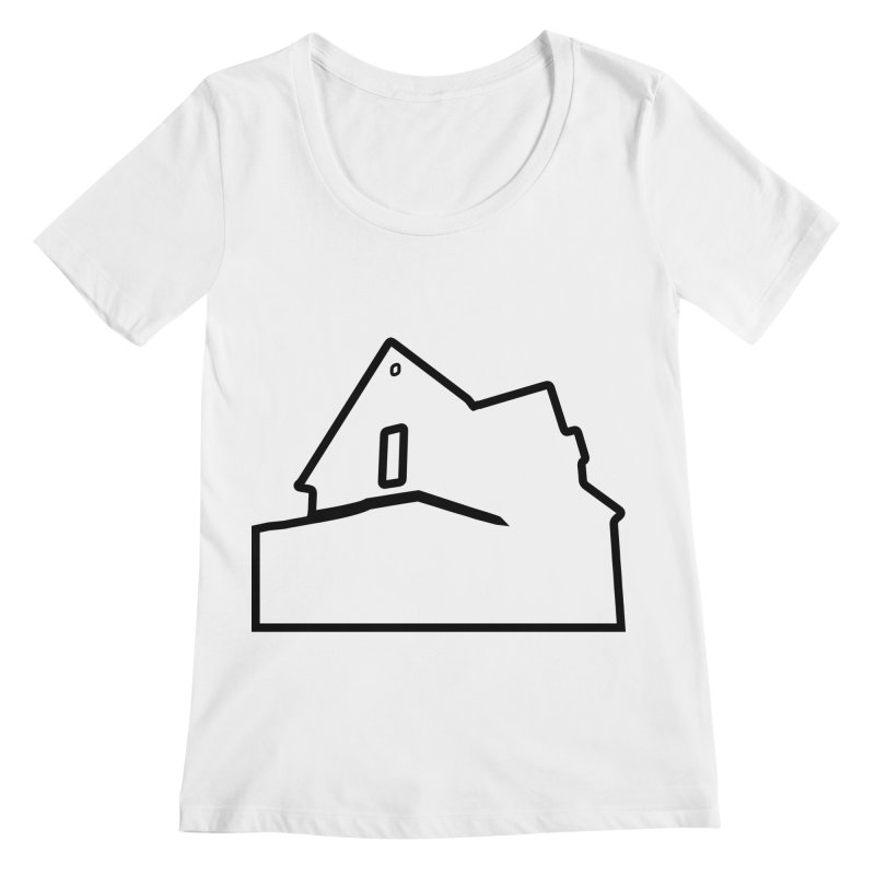 American Football - House Silhouette (black) Women's Regular Scoop Neck by Polyvinyl Threadless Shop