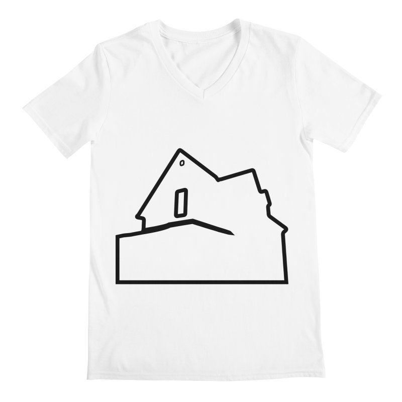 American Football - House Silhouette (black) Men's Regular V-Neck by Polyvinyl Threadless Shop