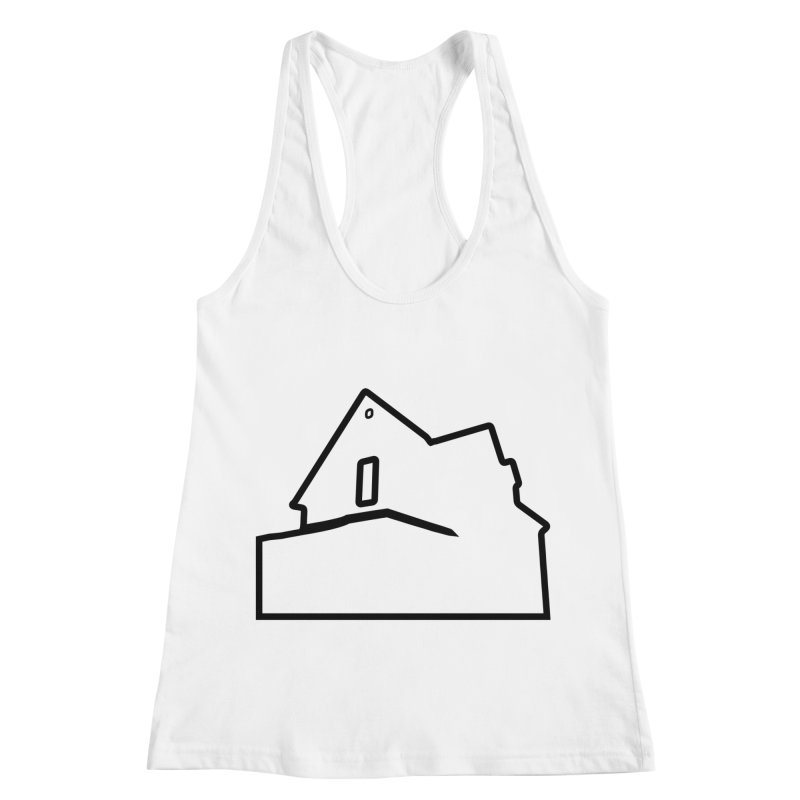 American Football - House Silhouette (black) Women's Racerback Tank by Polyvinyl Threadless Shop