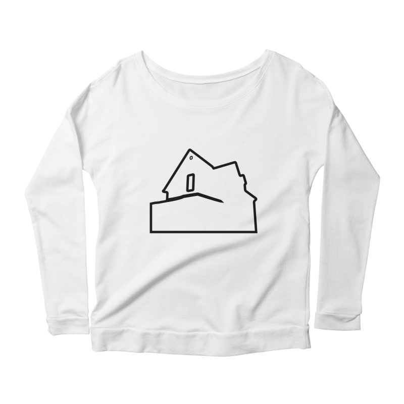 American Football - House Silhouette (black) Women's Scoop Neck Longsleeve T-Shirt by Polyvinyl Threadless Shop