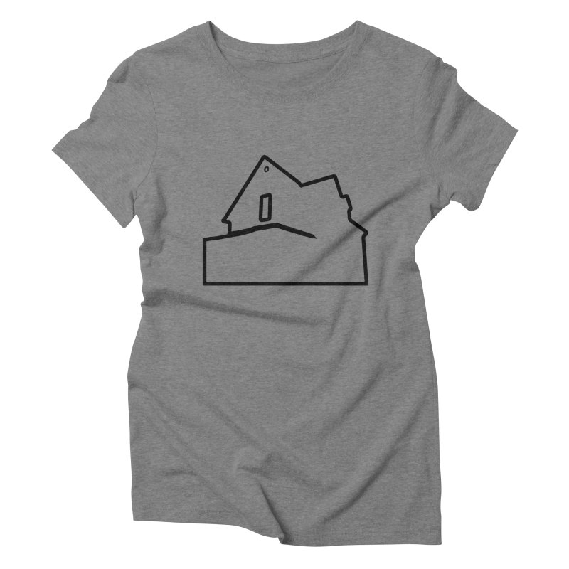 American Football - House Silhouette (black) Women's Triblend T-Shirt by Polyvinyl Threadless Shop