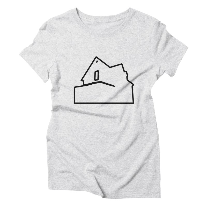 American Football - House Silhouette (black) Women's Triblend T-Shirt by Polyvinyl Threadless Shop