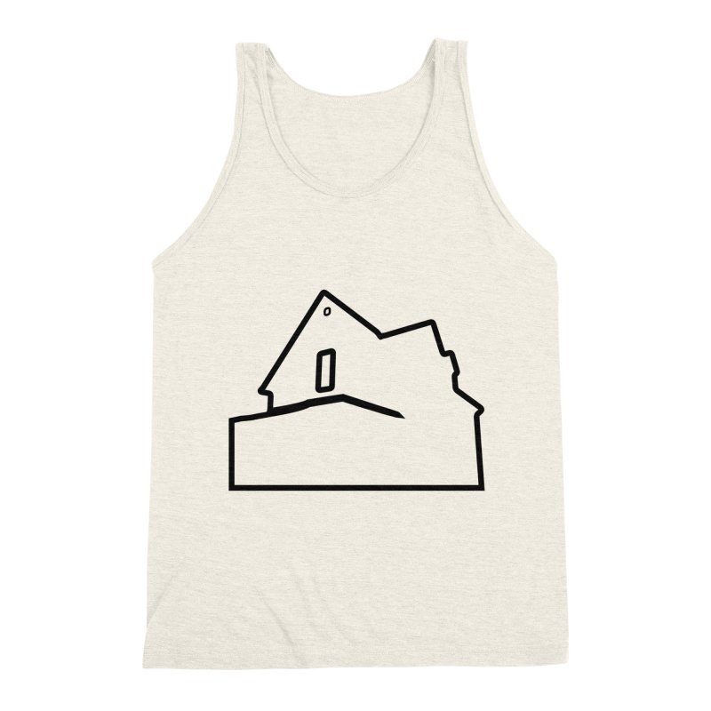American Football - House Silhouette (black) Men's Triblend Tank by Polyvinyl Threadless Shop