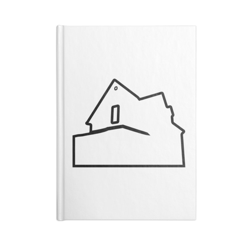 American Football - House Silhouette (black) Accessories Lined Journal Notebook by Polyvinyl Threadless Shop