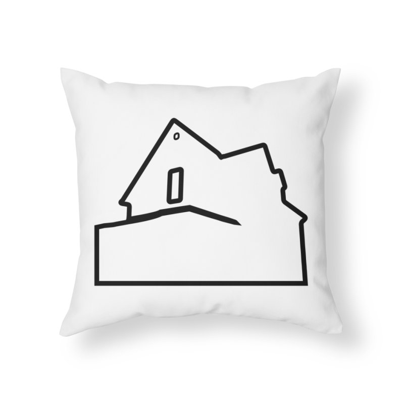 American Football - House Silhouette (black) Home Throw Pillow by Polyvinyl Threadless Shop