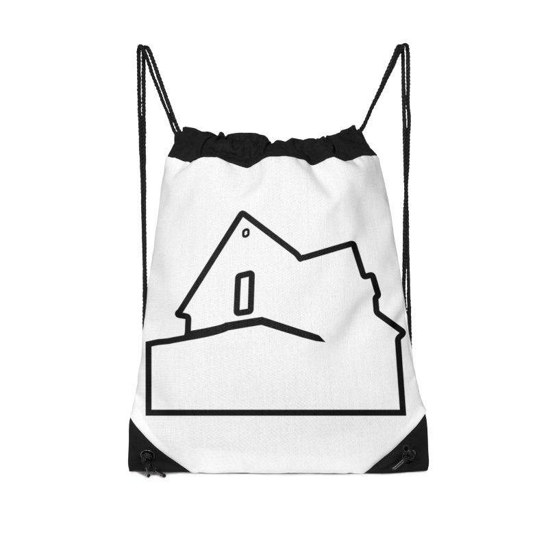 American Football - House Silhouette (black) Accessories Drawstring Bag Bag by Polyvinyl Threadless Shop