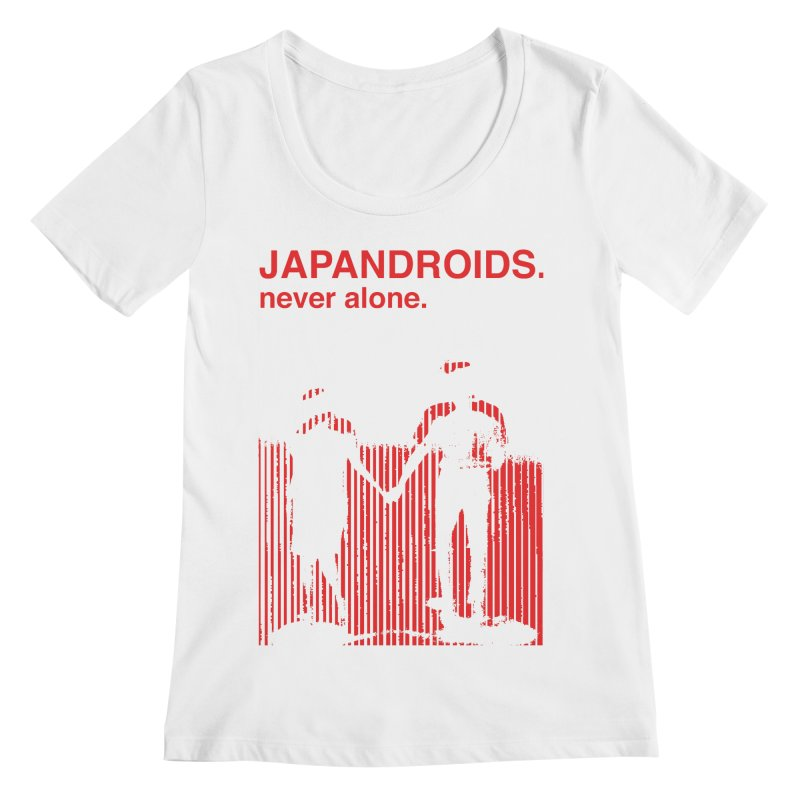 Japandroids - Never Alone Women's Regular Scoop Neck by Polyvinyl Threadless Shop