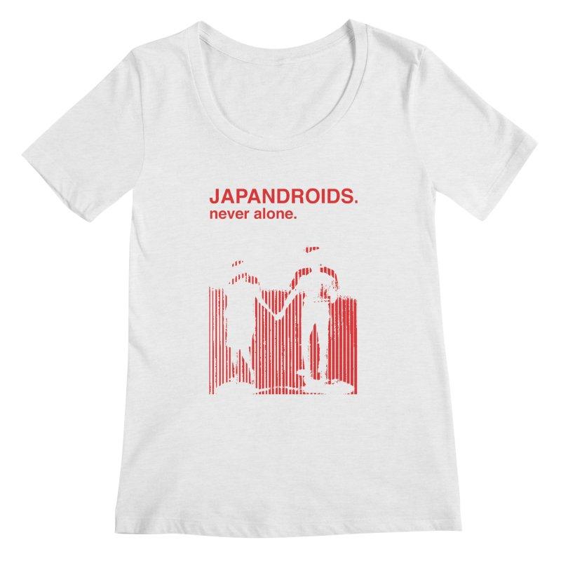 Japandroids - Never Alone Women's Scoop Neck by Polyvinyl Threadless Shop
