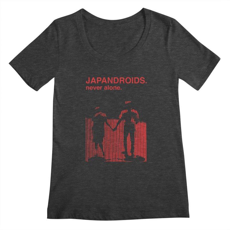 Japandroids - Never Alone Women's Scoopneck by Polyvinyl Threadless Shop