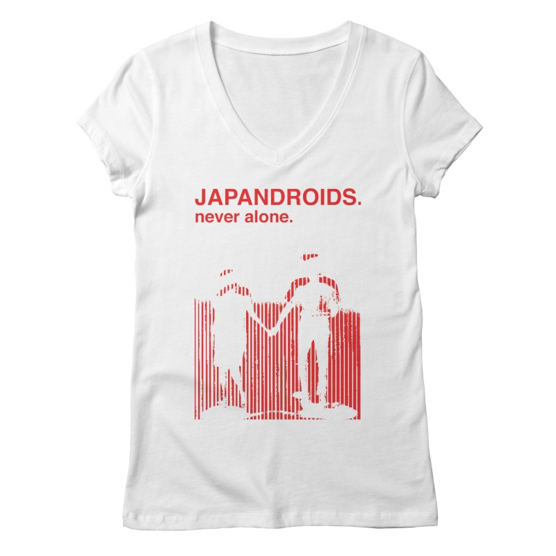 Japandroids - Never Alone Women's V-Neck by Polyvinyl Threadless Shop