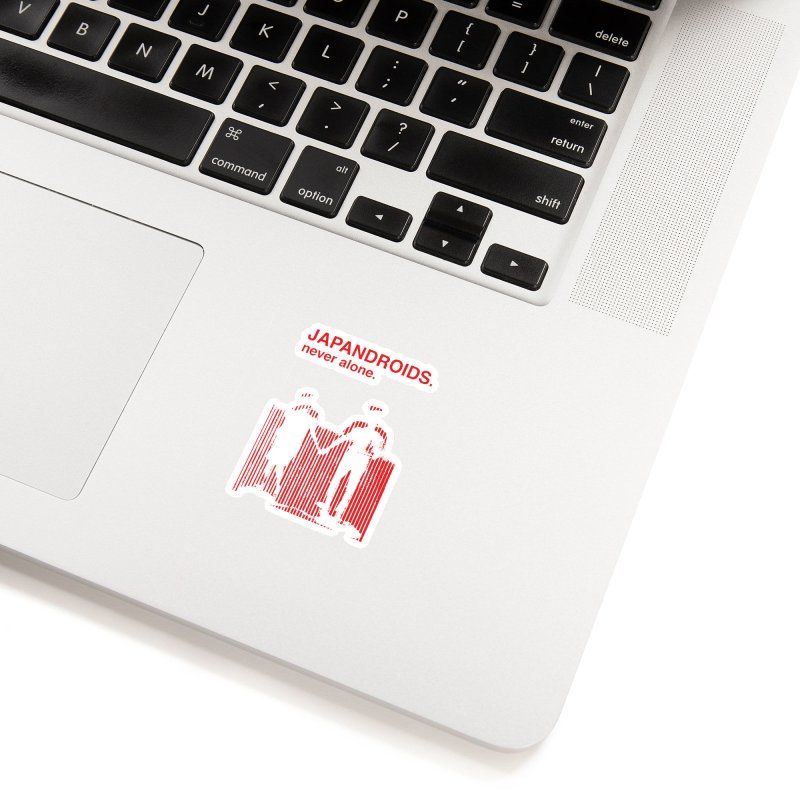 Japandroids - Never Alone Accessories Sticker by Polyvinyl Threadless Shop