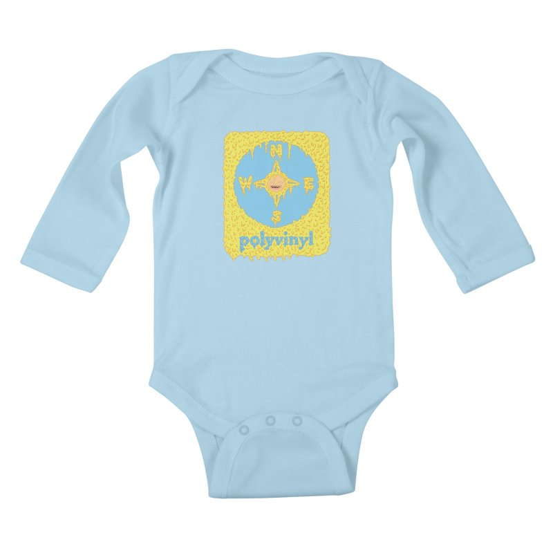 Polyvinyl x David Barnes Collaboration Kids Baby Longsleeve Bodysuit by Polyvinyl Threadless Shop