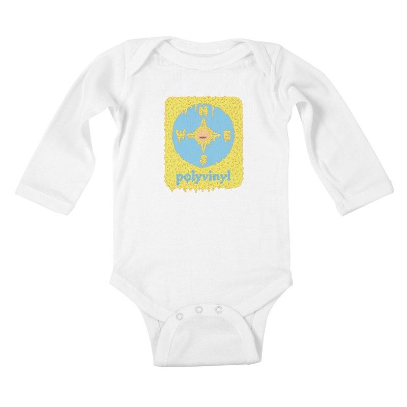 Polyvinyl x David Barnes Collaboration Kids Baby Longsleeve Bodysuit by Polyvinyl Threadless Shop