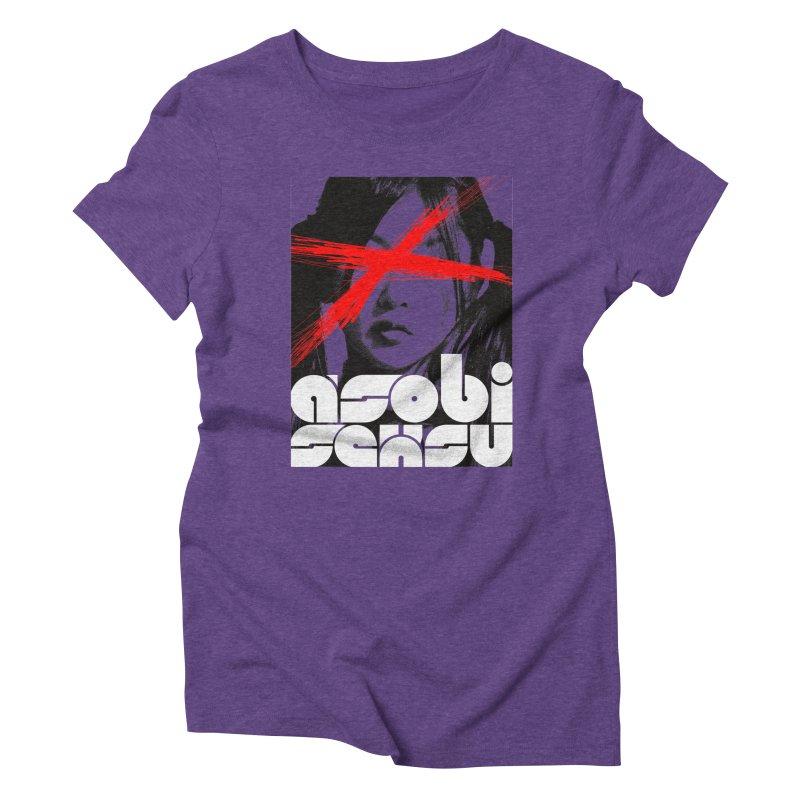 Asobi Seksu - x-girl Women's Triblend T-shirt by Polyvinyl Threadless Shop