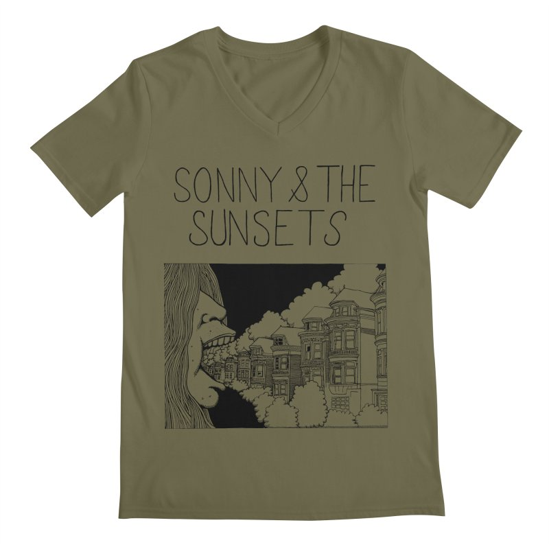 Sonny & The Sunsets x Ben Montero Collaboration Men's V-Neck by Polyvinyl Threadless Shop