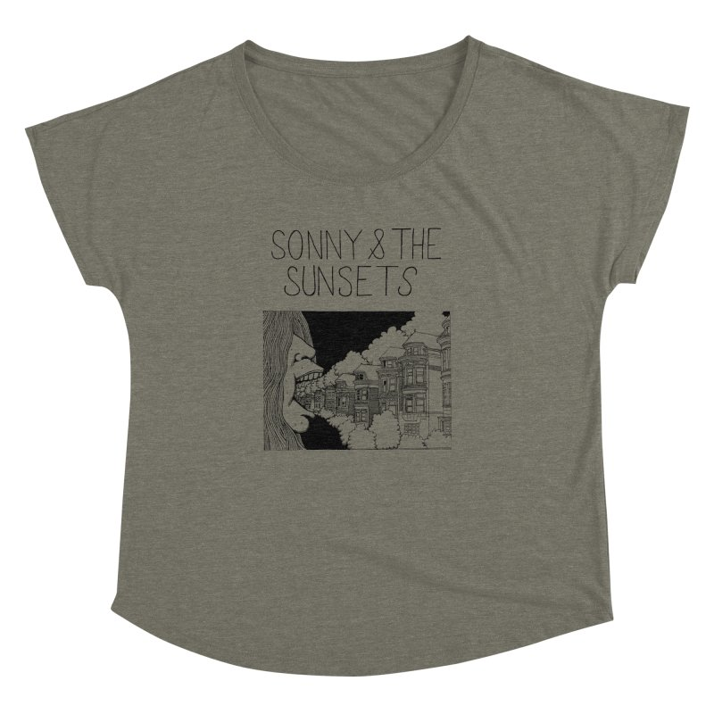 Sonny & The Sunsets x Ben Montero Collaboration Women's Dolman Scoop Neck by Polyvinyl Threadless Shop
