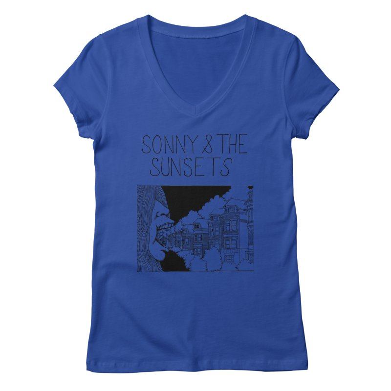 Sonny & The Sunsets x Ben Montero Collaboration Women's V-Neck by Polyvinyl Threadless Shop