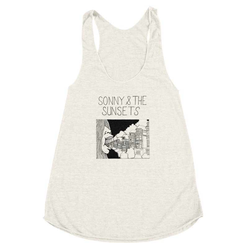Sonny & The Sunsets x Ben Montero Collaboration Women's Racerback Triblend Tank by Polyvinyl Threadless Shop