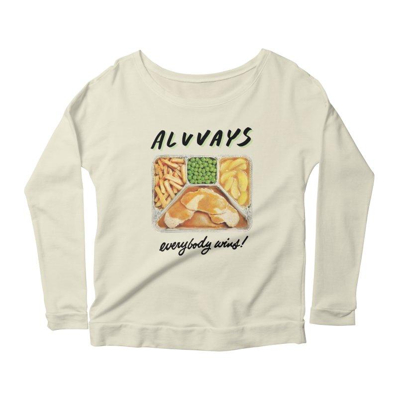 Alvvays - everybody wins! Women's Longsleeve Scoopneck  by Polyvinyl Threadless Shop