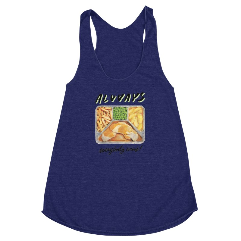 Alvvays - everybody wins! Women's Racerback Triblend Tank by Polyvinyl Threadless Shop