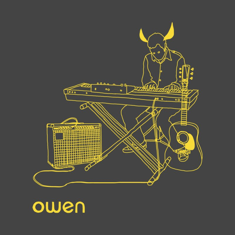 Owen - Horns, Guitars, and Keys Accessories Sticker by Polyvinyl Threadless Shop