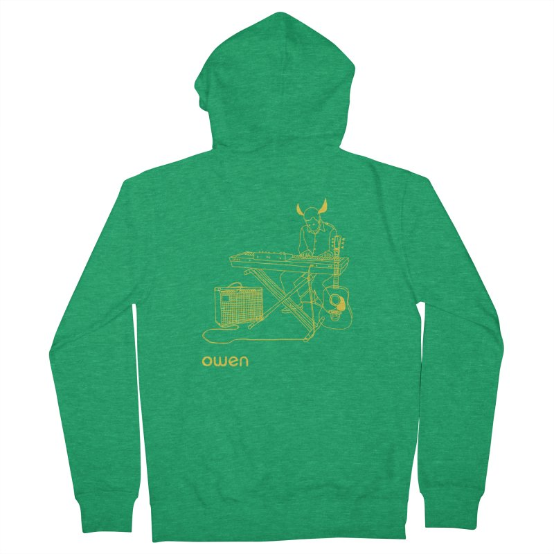Owen - Horns, Guitars, and Keys Men's Zip-Up Hoody by Polyvinyl Threadless Shop