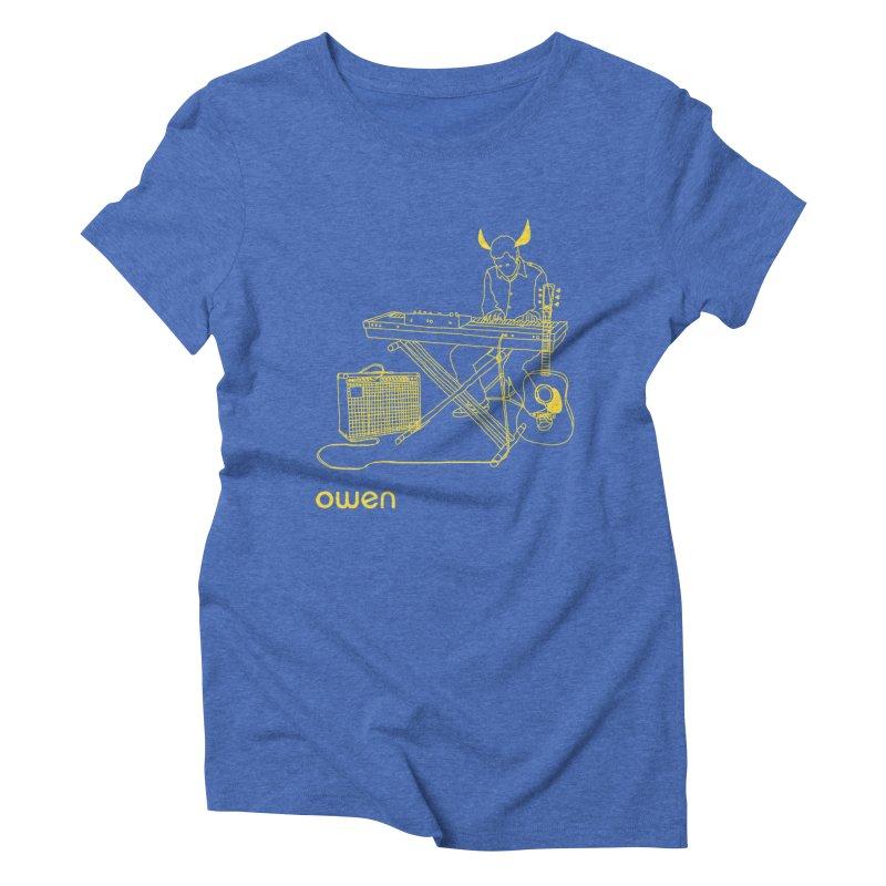 Owen - Horns, Guitars, and Keys Women's Triblend T-Shirt by Polyvinyl Threadless Shop