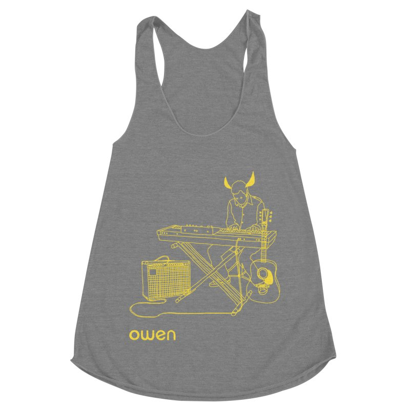 Owen - Horns, Guitars, and Keys Women's Racerback Triblend Tank by Polyvinyl Threadless Shop