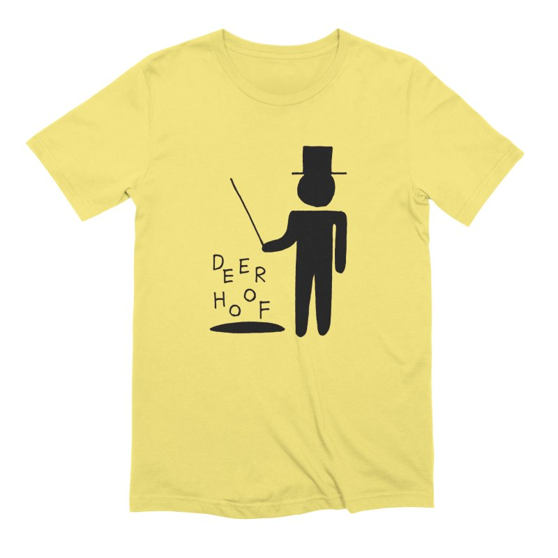 Deerhoof - The Magician in Men's Extra Soft T-Shirt Light Yellow by Polyvinyl Threadless Shop
