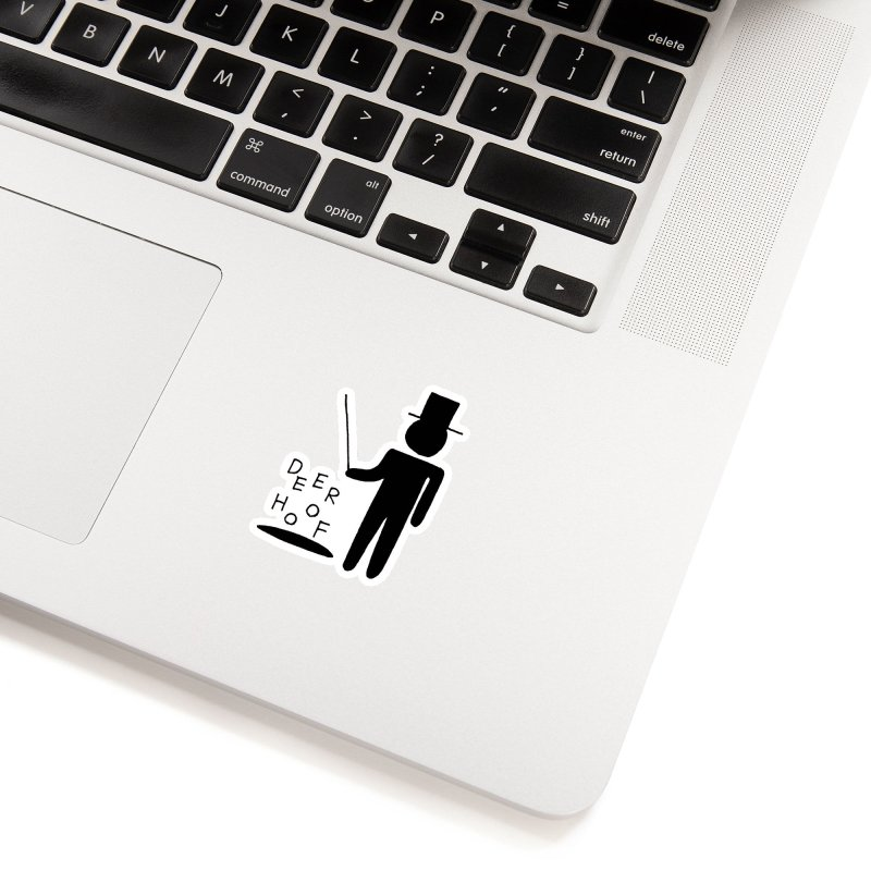 Deerhoof - The Magician Accessories Sticker by Polyvinyl Threadless Shop