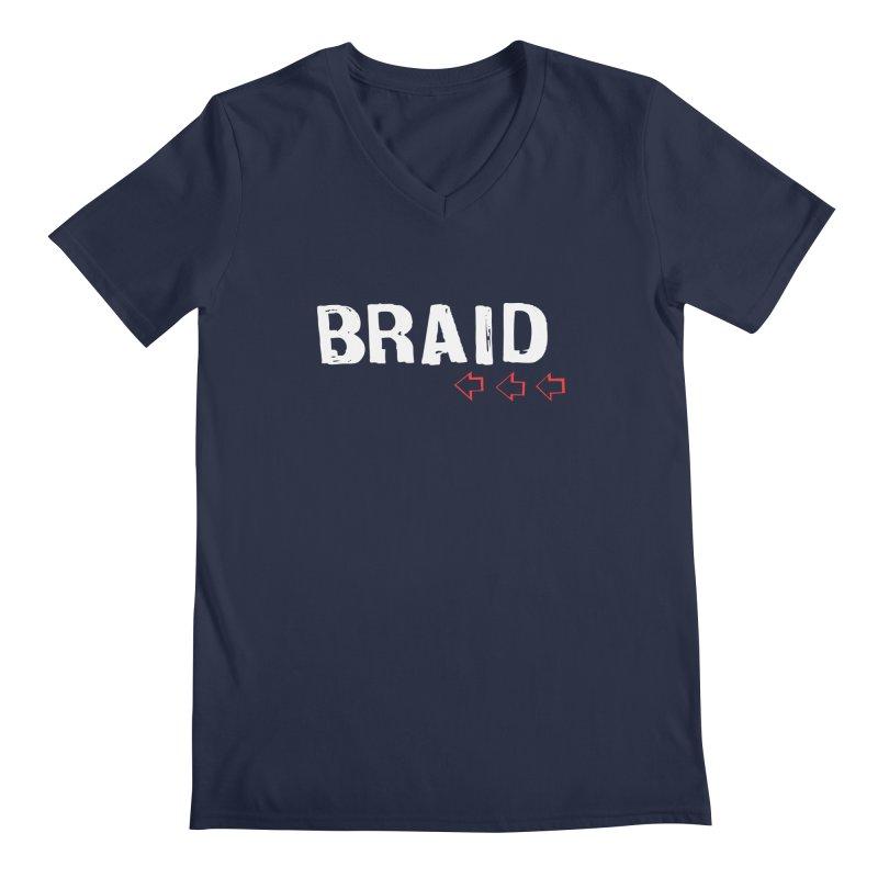 Braid - Arrows Men's Regular V-Neck by Polyvinyl Threadless Shop