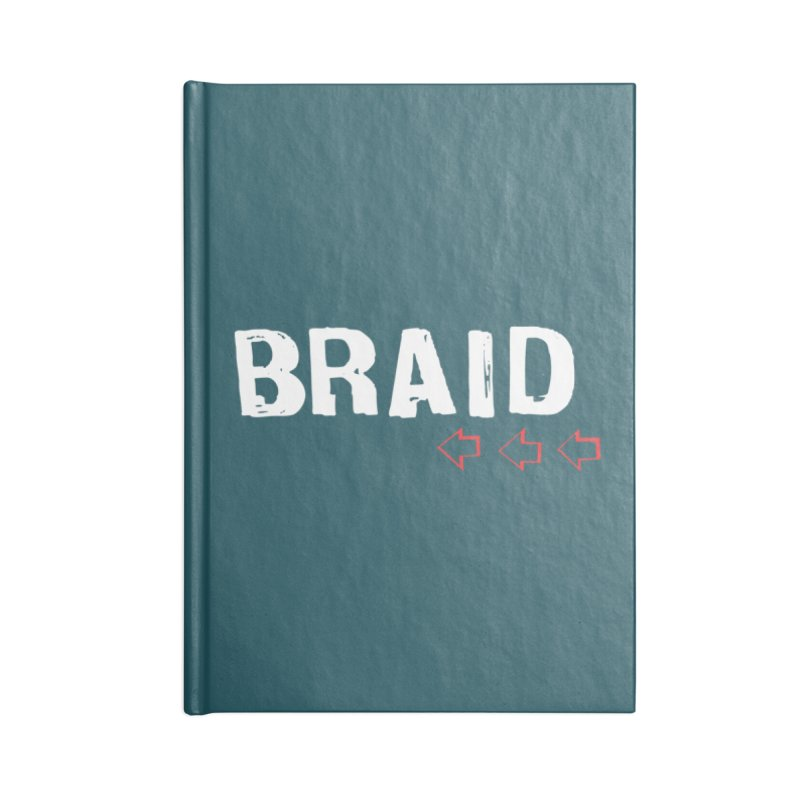 Braid - Arrows Accessories Blank Journal Notebook by Polyvinyl Threadless Shop