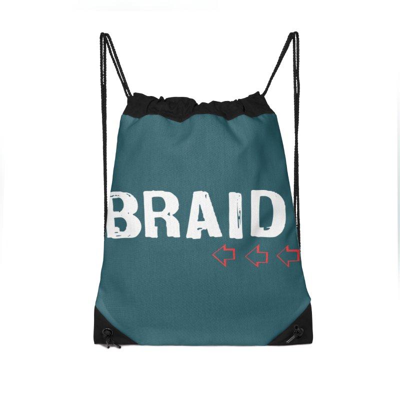 Braid - Arrows Accessories Drawstring Bag Bag by Polyvinyl Threadless Shop