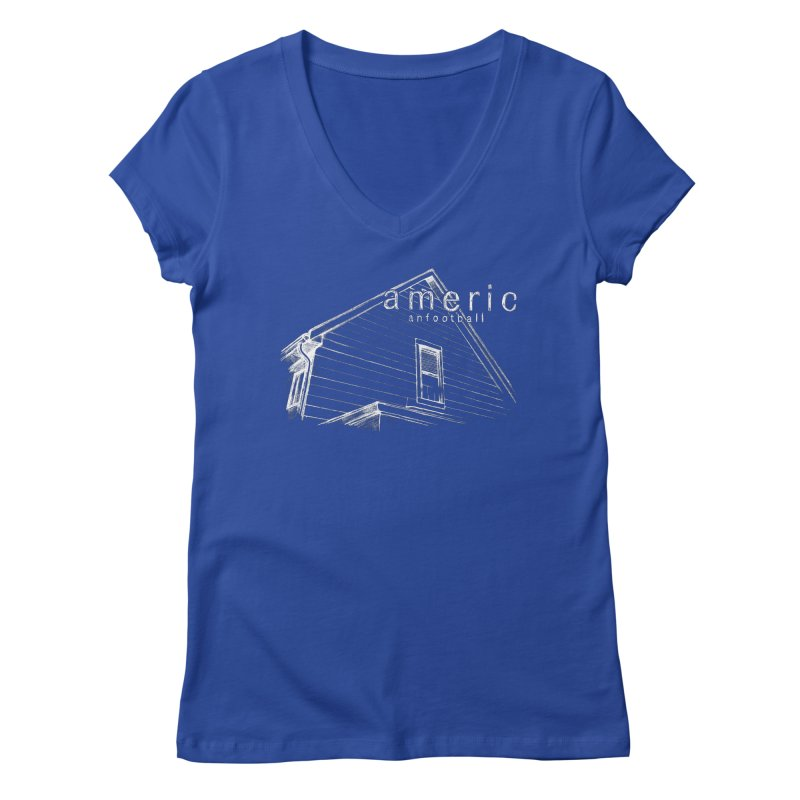 American Football - Stay Home Women's V-Neck by Polyvinyl Threadless Shop