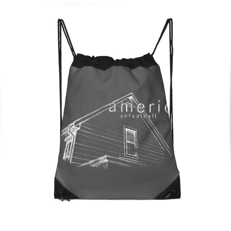 American Football - Stay Home Accessories Drawstring Bag Bag by Polyvinyl Threadless Shop