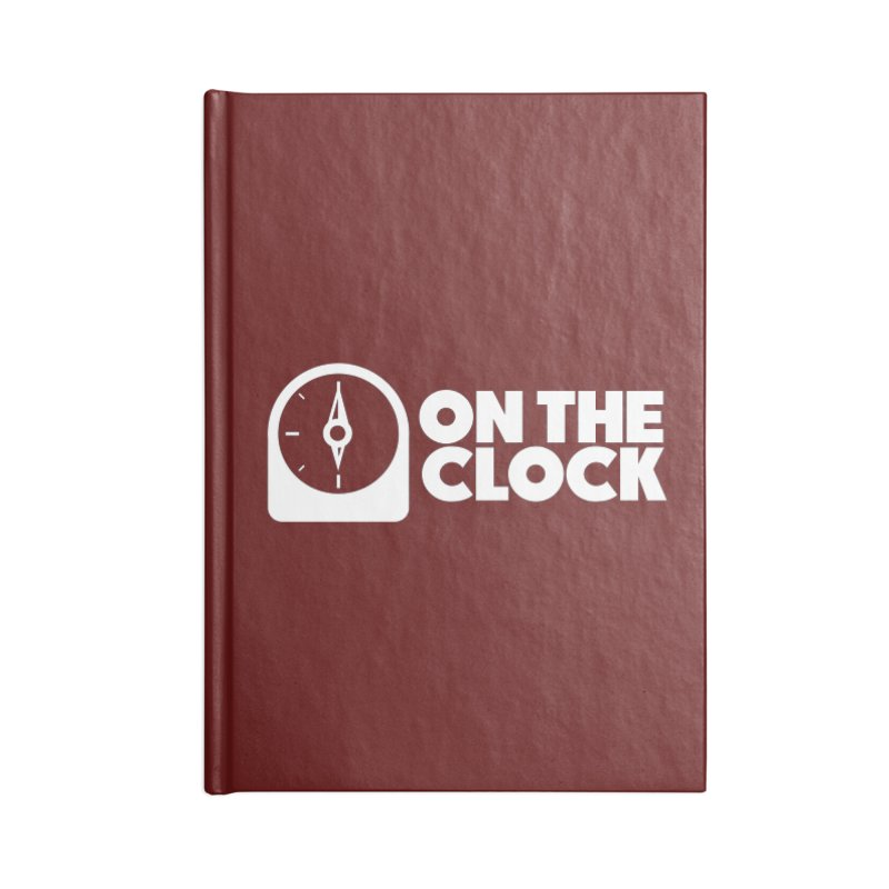 Polyvinyl - On The Clock Accessories Blank Journal Notebook by Polyvinyl Threadless Shop