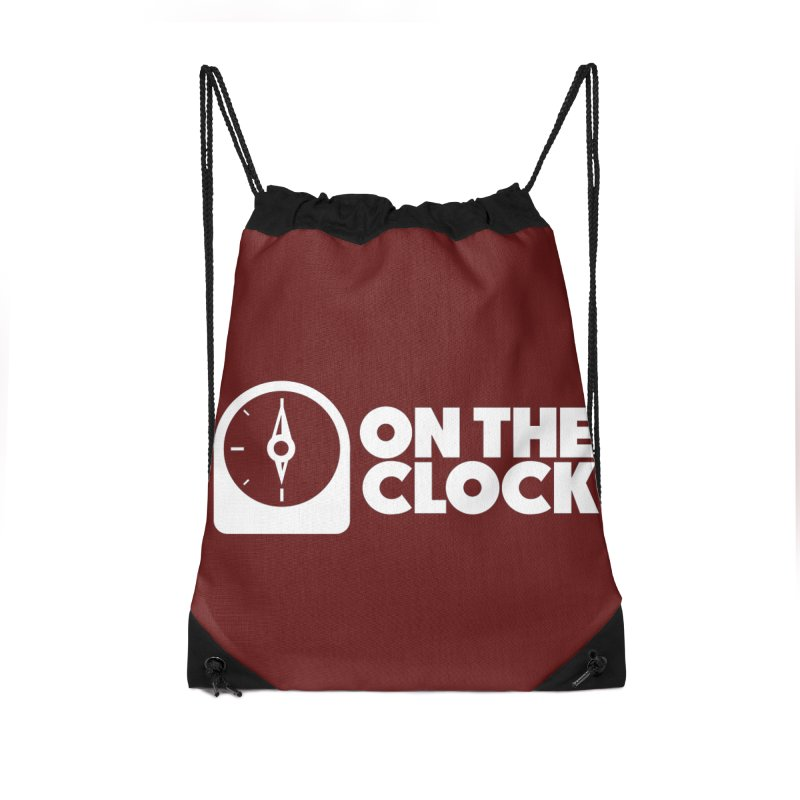 Polyvinyl - On The Clock Accessories Drawstring Bag Bag by Polyvinyl Threadless Shop