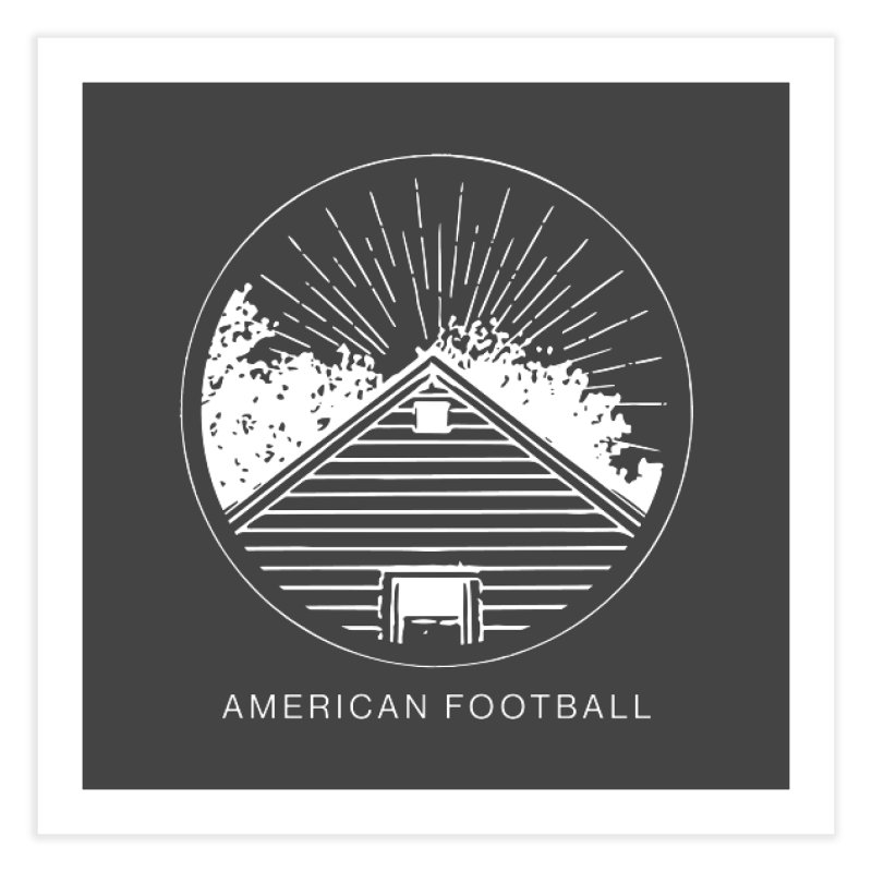 American Football - Home is Where the Haunt is Home Fine Art Print by Polyvinyl Threadless Shop